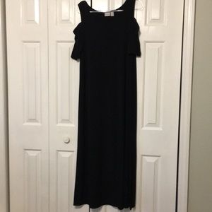 Chico's cold shoulder maxi dress size 3 black